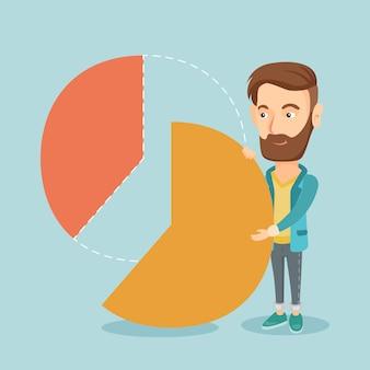 Biznesmen biorący udział w zyskach.