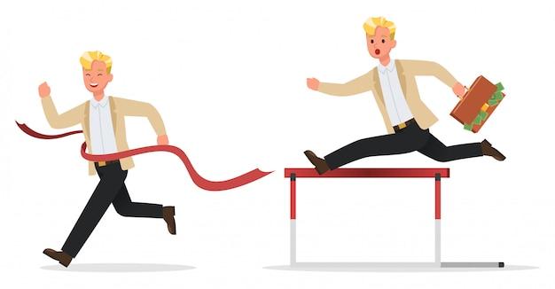 Biznesmen charakter pracy