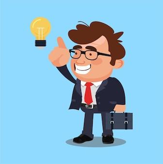 Biznesmen dostaje ilustrację pomysłu