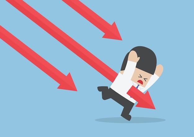Biznesmen dźgnięty przez tendencję spadkową rynku akcji