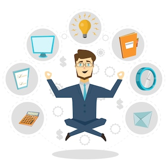 Biznesmen elemets concept