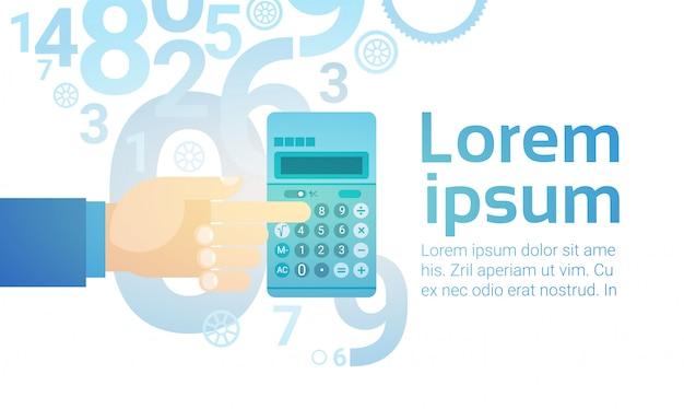 Biznesmen hand hold calculator banking accountant