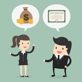 Biznesmen i kobieta biznesu projektowania