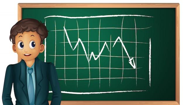 Biznesmen i tablica