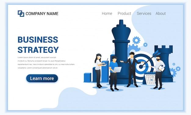 Biznesmen i współpracownicy planują strategię biznesową. metafora biznesu, przywództwo, osiągnięcie celu. płaska ilustracja