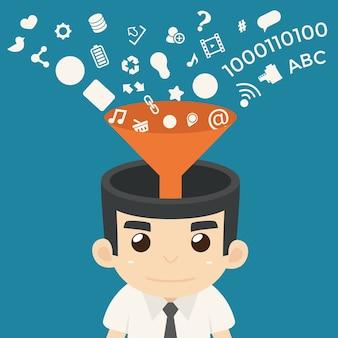Biznesmen komunikacja