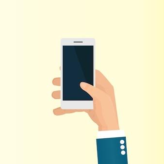 Biznesmen korzystać ze smartfona