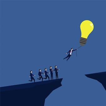 Biznesmen latać z balonem z pomysłem zostawił innych bez pomysłu.