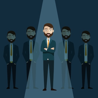 Biznesmen lidera