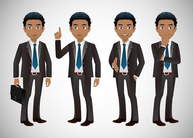 Biznesmen na różnych stanowiskach
