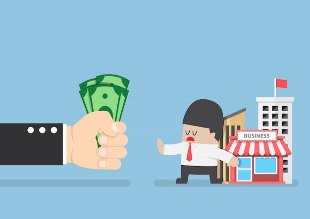 Biznesmen nie chce sprzedać swojego biznesu