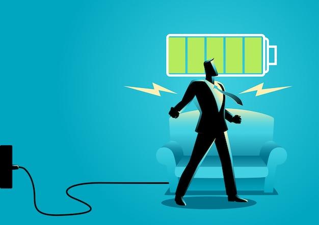 Biznesmen po uzyskaniu spokojny sen