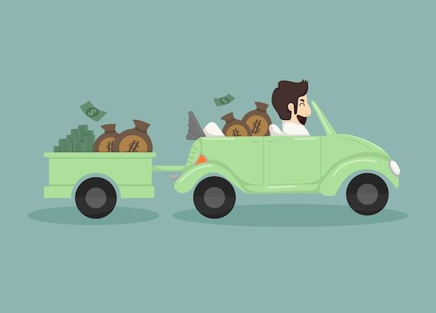 Biznesmen połowu pieniędzy