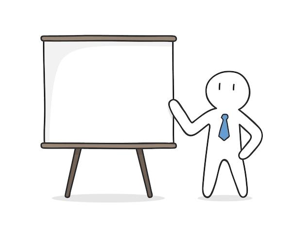 Biznesmen prezentacji projektu