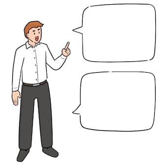 Biznesmen rozmawia