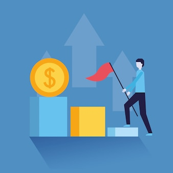 Biznesmen sukcesu pieniądze