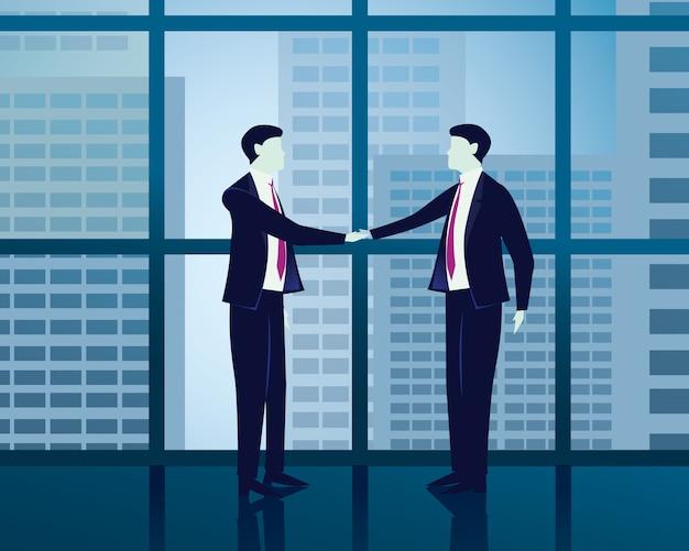 Biznesmen sukcesu umowy pojęcie