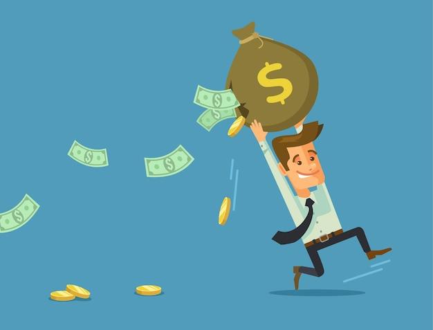Biznesmen traci pieniądze