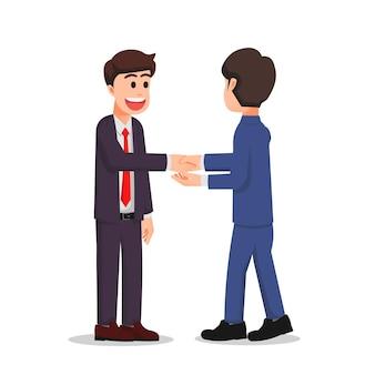 Biznesmen uścisk dłoni ze swoim partnerem biznesowym
