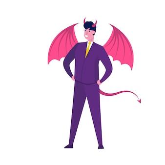 Biznesmen w kolorze demona