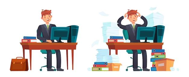 Biznesmen w miejscu pracy