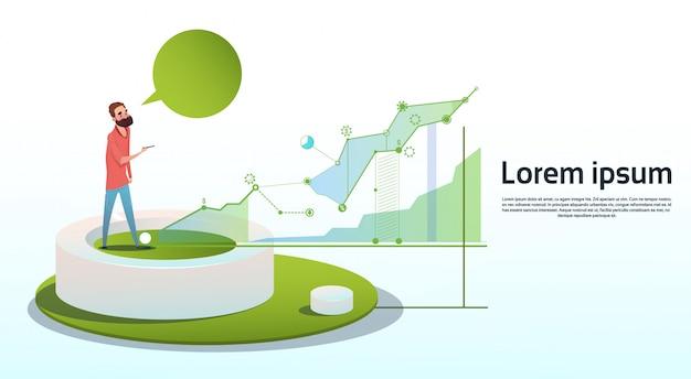 Biznesmen wizualizacji analizy finansów wykres finansowy biznes kopia miejsce