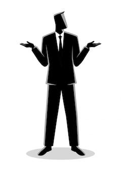 Biznesmen wzruszając ramionami