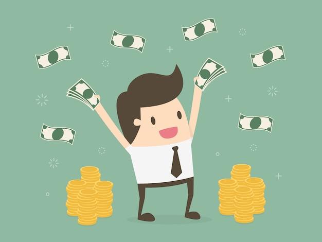 Biznesmen z pieniędzmi
