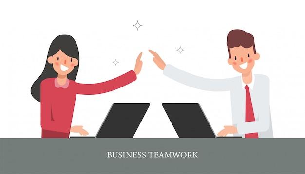 Biznesmena i bizneswomanu kolegi charakter.