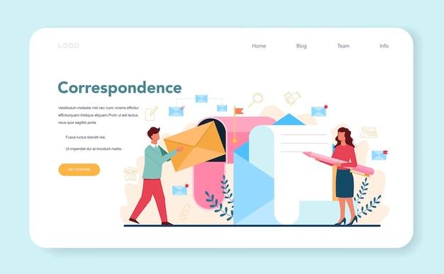 Biznesmena osobistego asystenta baner internetowy lub strona docelowa