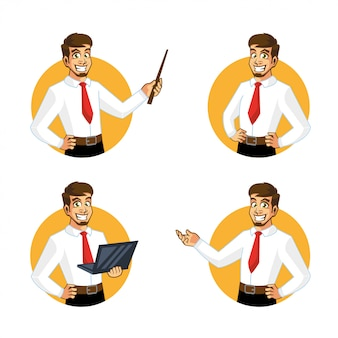 Biznesmena pracownika sprzedawcy charakteru projekt