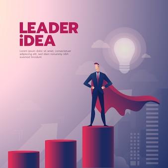Biznesmena przywódctwo graficzna zawartość z tekstem