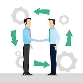 Biznesmeni pracujący razem