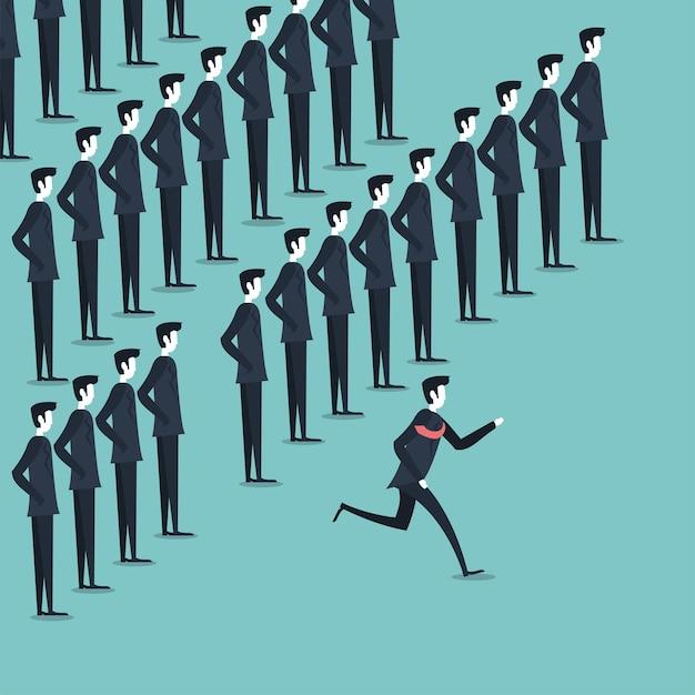 Biznesmeni uformowani i działający