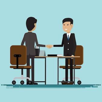 Biznesmeni uścisk dłoni partnerów