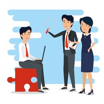 Biznesmeni w spotkaniu