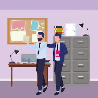 Biznesmeni współpracują z dokumentami