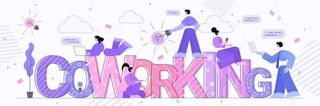 Biznesmeni zespół pracujący razem sukces biznesowy praca zespołowa komunikacja coworking