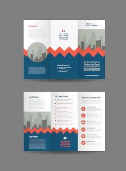 Biznesowa broszura składana na trzy części