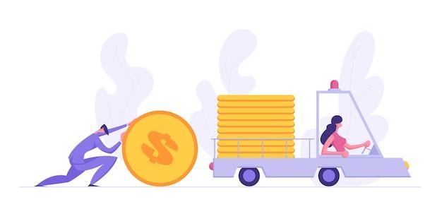 Biznesowa dostawa sukcesu finansowego ilustracja koncepcja