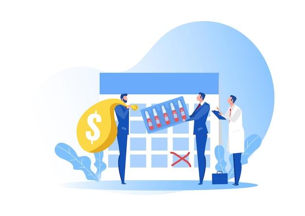 Biznesowa dostawa szczepionki dla ilustracji koncepcji antywirusowej