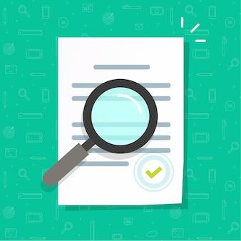 Biznesowa ekspertyza dokumentów prawnych lub ilustracja inspekcji