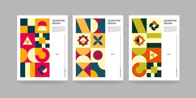 Biznesowa geometryczna okładka retro