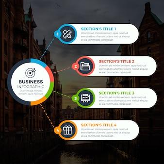 Biznesowa infographic z fotografią