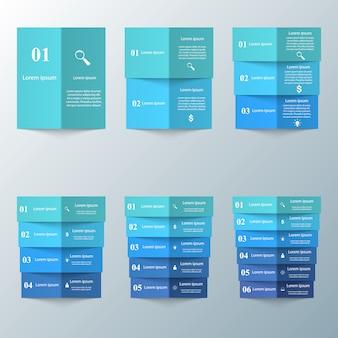 Biznesowa infographics origami stylu wektoru ilustracja