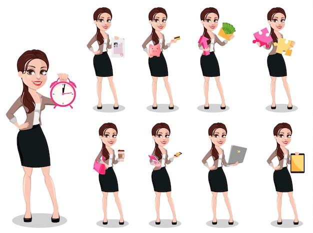 Biznesowa kobieta w przypadkowych ubraniach