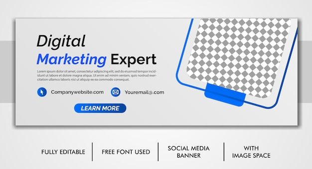 Biznesowa okładka na facebooku i szablon banera internetowego