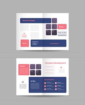 Biznesowa podwójna broszura