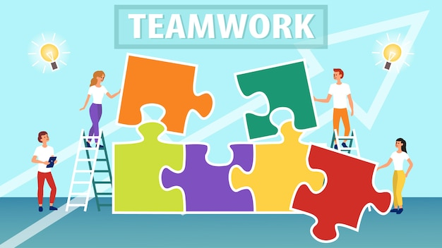 Biznesowa praca zespołowa ilustracja
