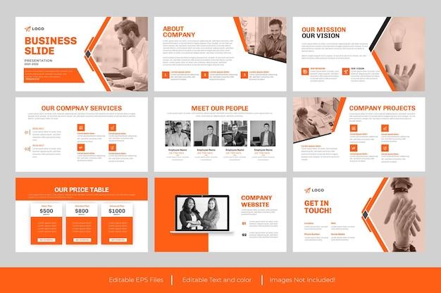 Biznesowa prezentacja powerpoint lub biznesowa prezentacja slajdów